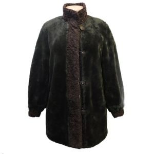 Novelti Lindor faux fur oversized coat size Small